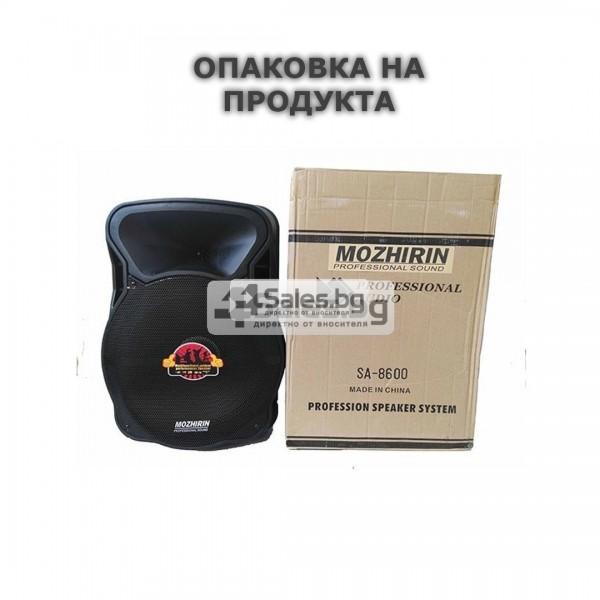 Тонколона Mozhirin SA8600-6 - 15 инча с 2 микрофона и цветомузика 15
