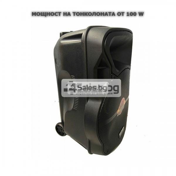Тонколона Mozhirin SA8600-6 - 15 инча с 2 микрофона и цветомузика 16