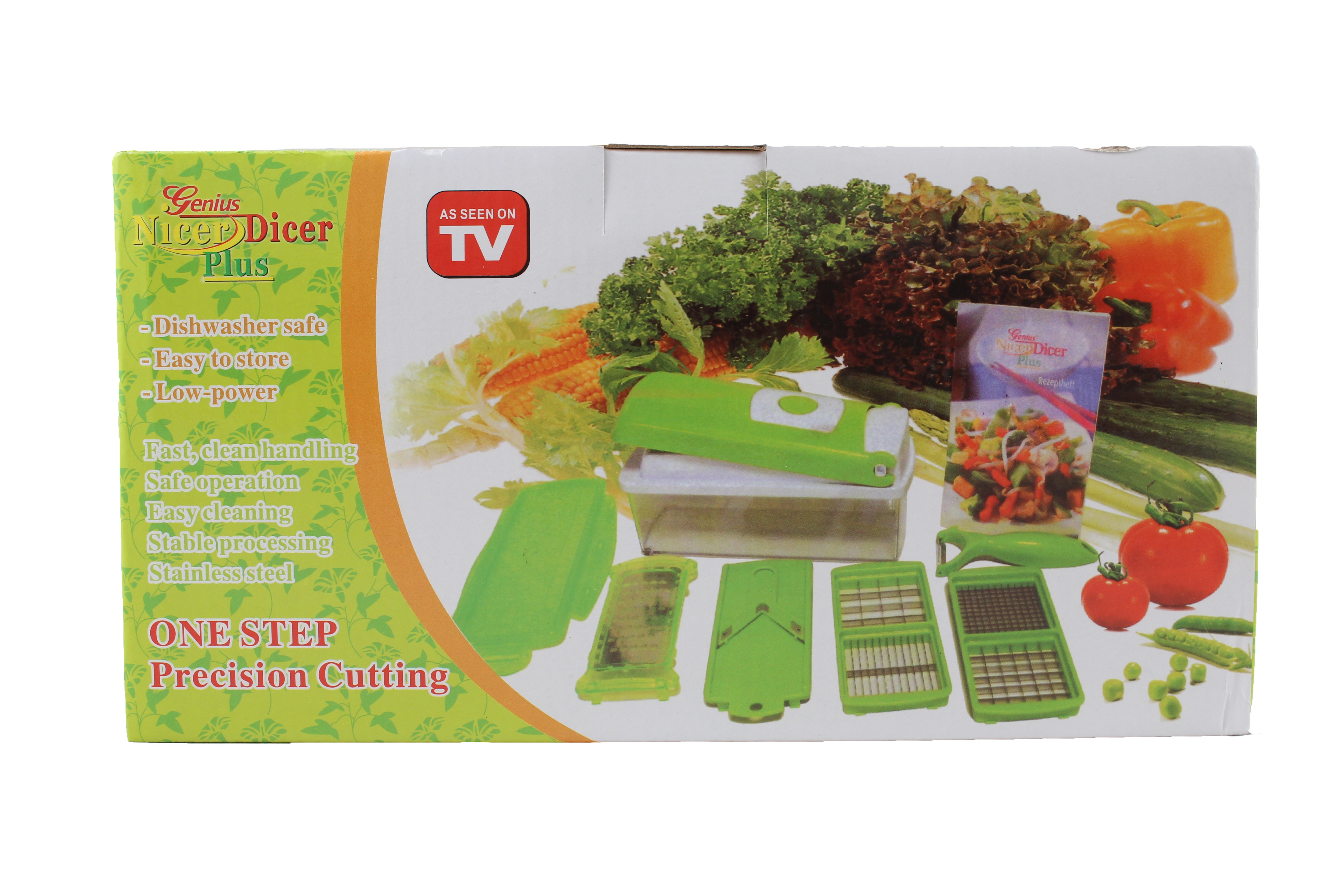 Кухненско Ренде за зеле, моркови с контейнер - Nicer Dicer Plus от 13 частиTV32 9