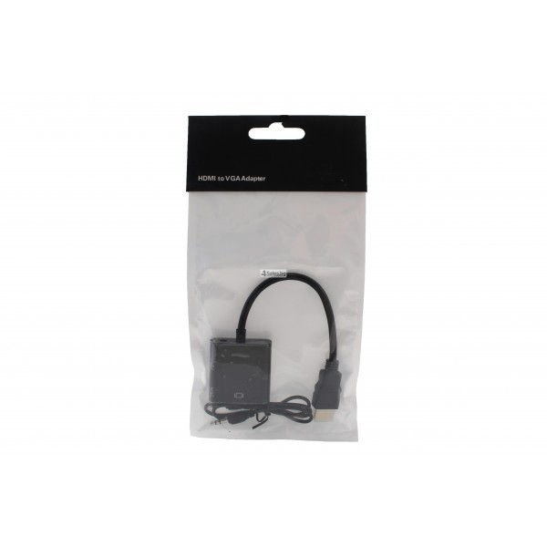 Преходник HDMI към VGA + 3.5mm аудио кабел CA41 8