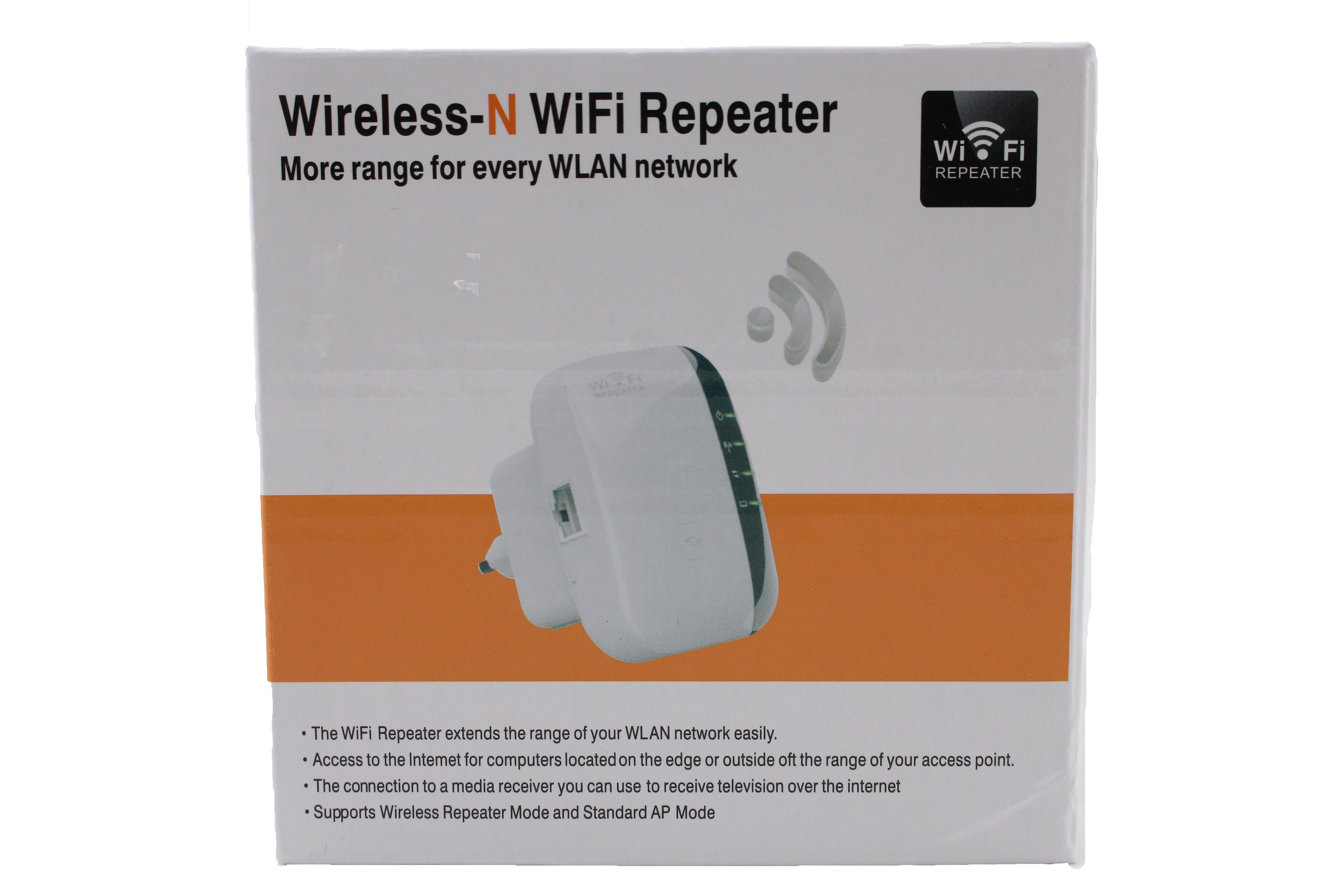 Безжичен ретранслатор на Wi-Fi сигнал с вграден усилвател WF13 15