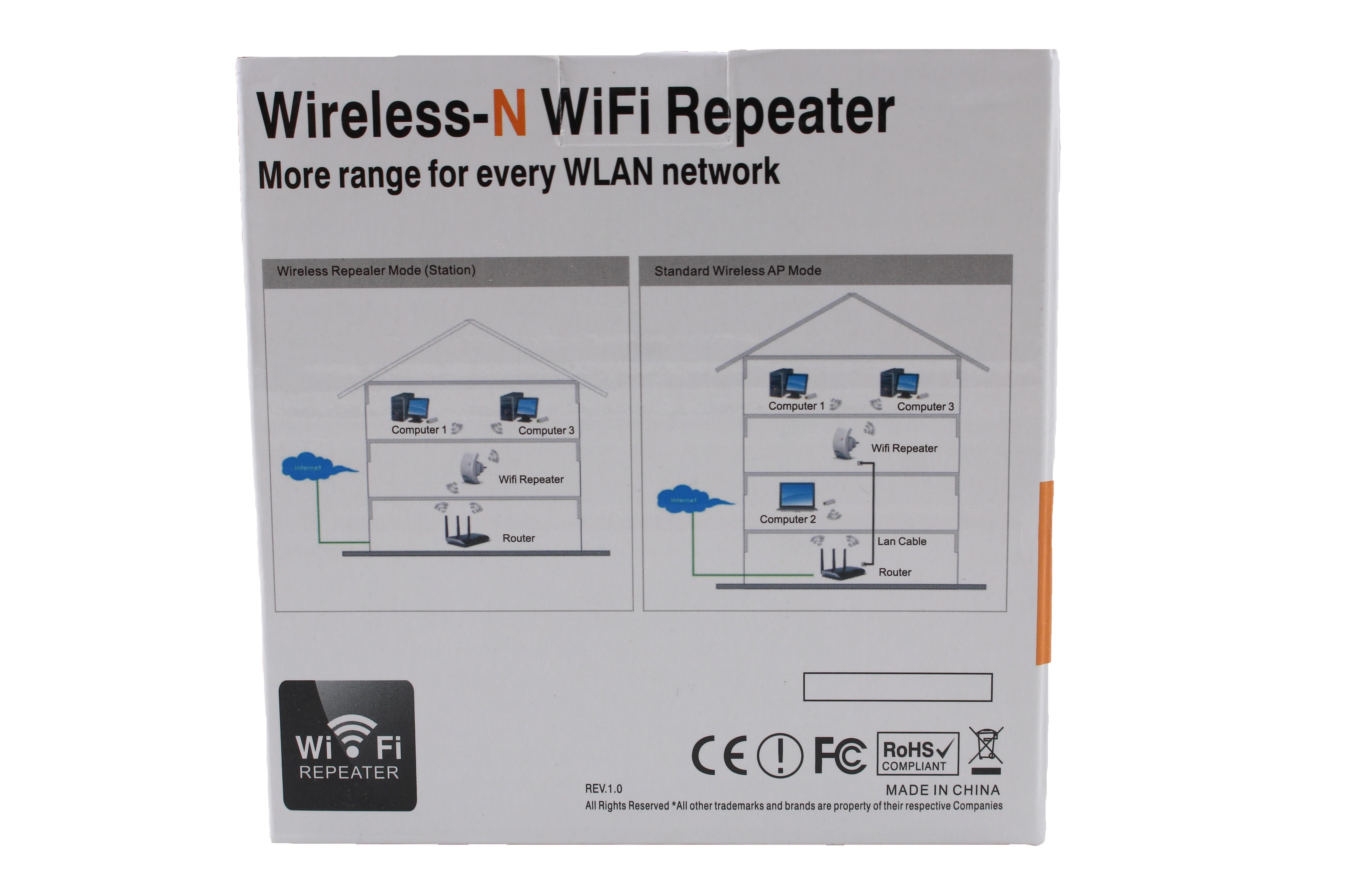 Безжичен ретранслатор на Wi-Fi сигнал с вграден усилвател WF13 16