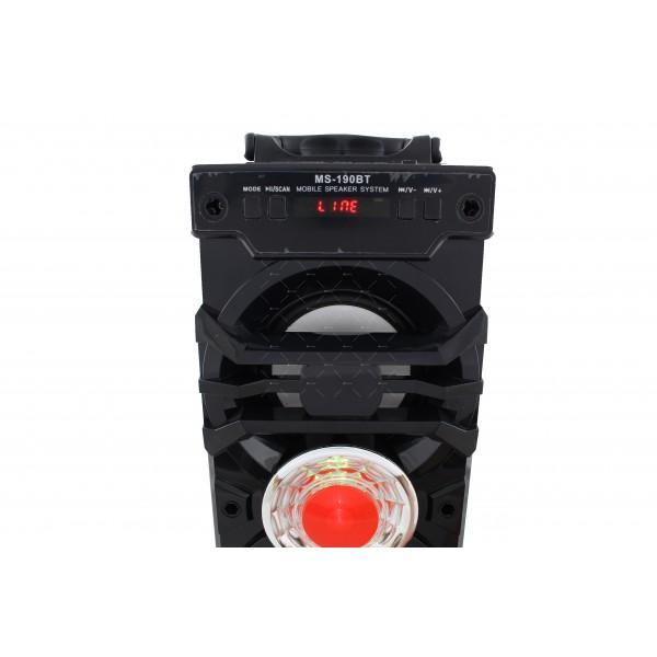 Преносима Bluetooth колонка с два говорителя и цветомузикаMS-190BT 5