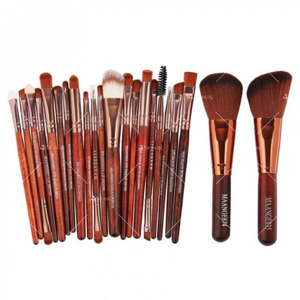 Богат комплект от 22 броя козметични четки Maange HZS30 4