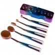 Ретро колекция козметични четки с поставка Maange HZS27 1