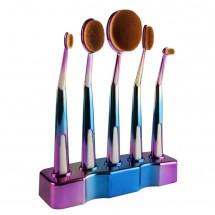 Ретро колекция козметични четки с поставка Maange HZS27