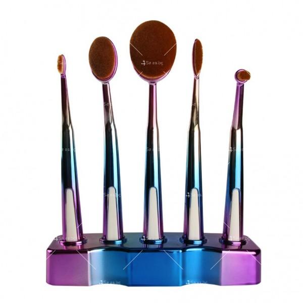 Ретро колекция козметични четки с поставка Maange HZS27 4