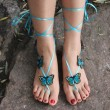 """Украшения за крака """"Сини пеперуди"""" 1"""