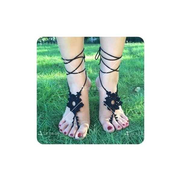"""Украшение за крака """"Снежинки през лятото"""" YM6 3"""