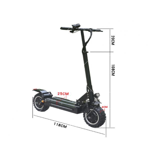 Сгъваем електрически скутер с 11 инчови гуми WEMI 8