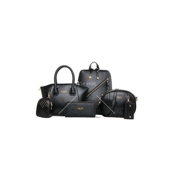 Комплект елегантни дамски чанти от 6 артикула BAG21 1