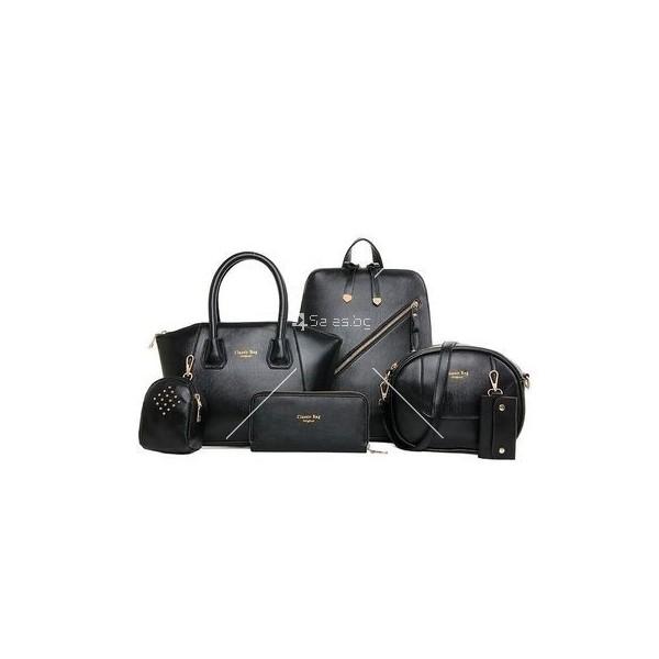 Комплект елегантни дамски чанти от 6 артикула BAG21 2