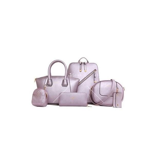 Комплект елегантни дамски чанти от 6 артикула BAG21