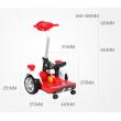 Детска електрическа кола с LED светлини 7