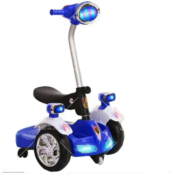 Детска електрическа кола с LED светлини 8
