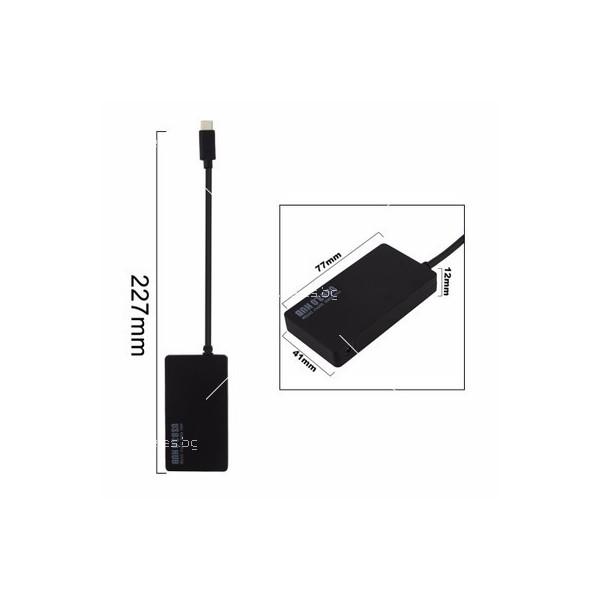 Ултра тънък хъб с четири USB 3.1 порта тип C CA31 3