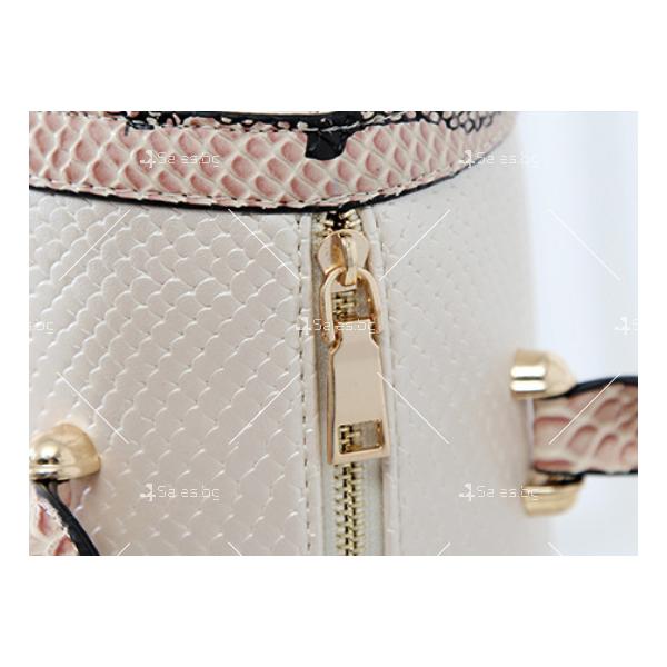 Чанта с декорация змийска кожа BAG38 11