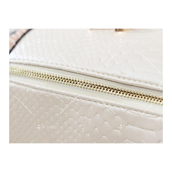 Чанта с декорация змийска кожа BAG38 12