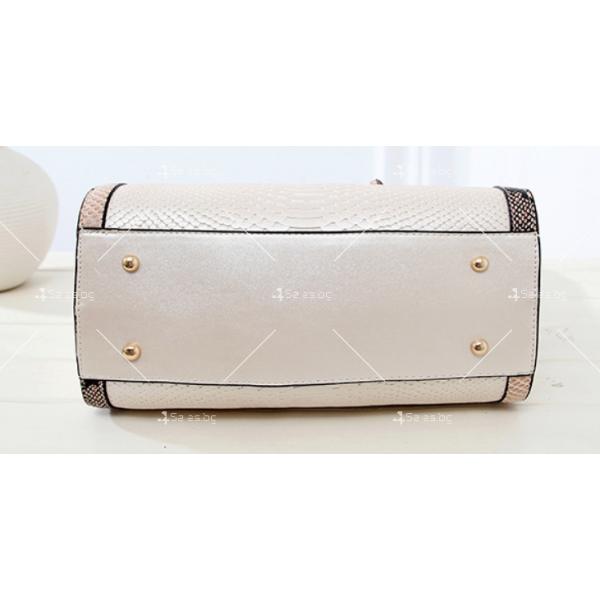 Чанта с декорация змийска кожа BAG38 17