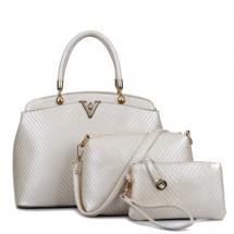 Три части чанти скъпоценен блясък BAG10