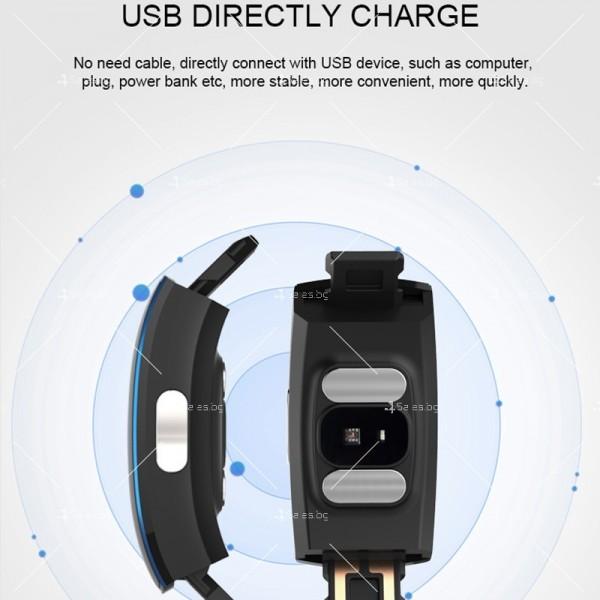Bluetooth смарт гривна SMW37 3