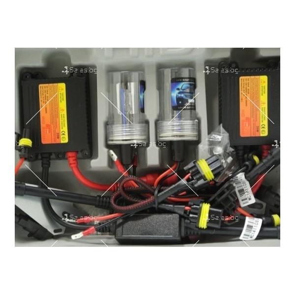 """Ксенон система """"Slim"""" от типа H1 с температура на цвета 8000 Келвина 1"""