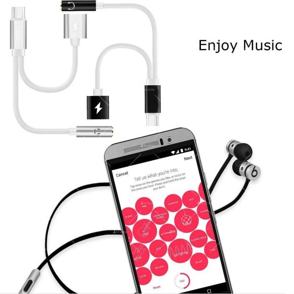Комбиниран преходник – вход за зарядно за смартфон и 3.5 мм жак за слушалки CA107 10