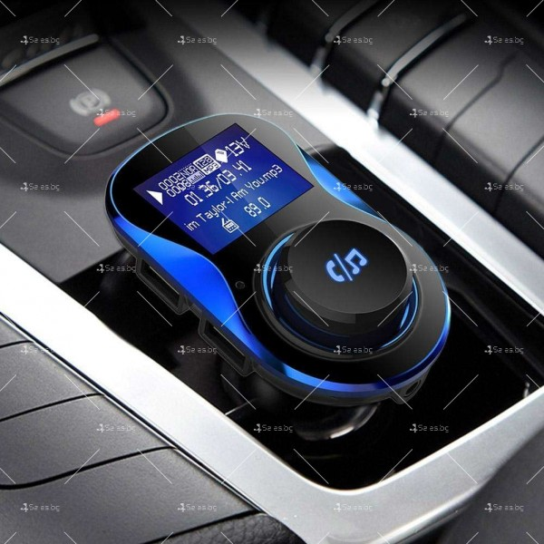 Bluetooth трансмитер за автомобил с подвижен корпус, USB изход и TF ВС28 HF26 3