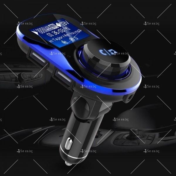 Bluetooth трансмитер за автомобил с подвижен корпус, USB изход и TF ВС28 HF26 18
