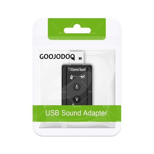 Външна звукова карта с USB CA60 6