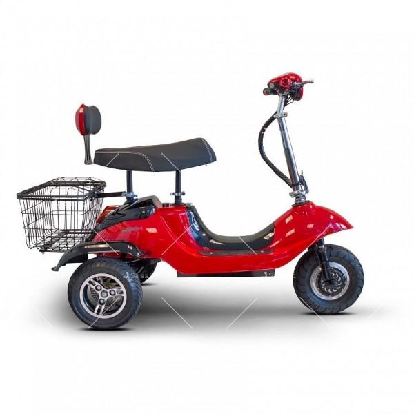 Червена ретро електрическа триколка със заден кош за багаж TRIKOK2 1