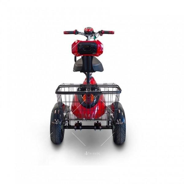 Червена ретро електрическа триколка със заден кош за багаж TRIKOK2 2