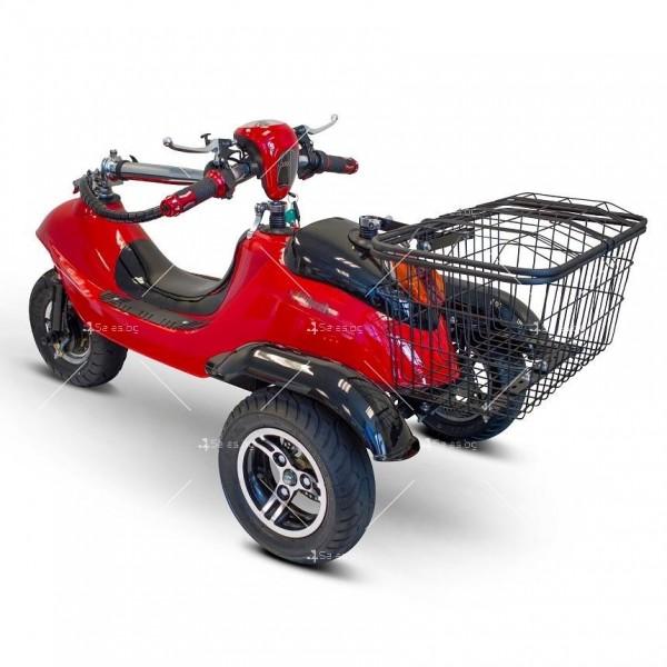 Червена ретро електрическа триколка със заден кош за багаж TRIKOK2 4