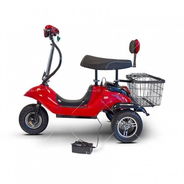 Червена ретро електрическа триколка със заден кош за багаж TRIKOK2 5