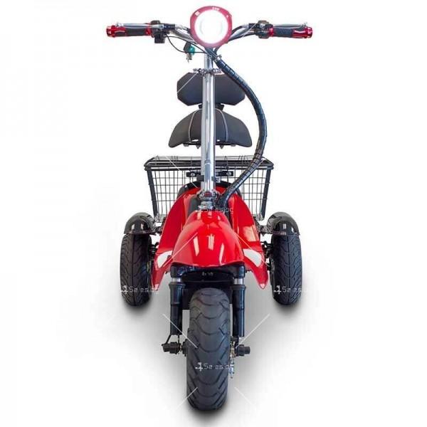 Червена ретро електрическа триколка със заден кош за багаж TRIKOK2 7