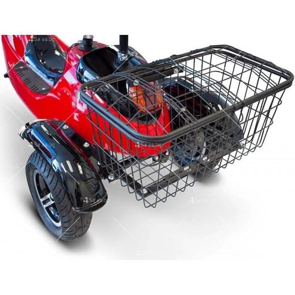 Червена ретро електрическа триколка със заден кош за багаж TRIKOK2 8