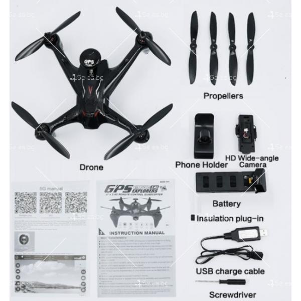Мултифункционален дрон с 5 G трансмисия, Follow Me функция и HD камера GW198 8