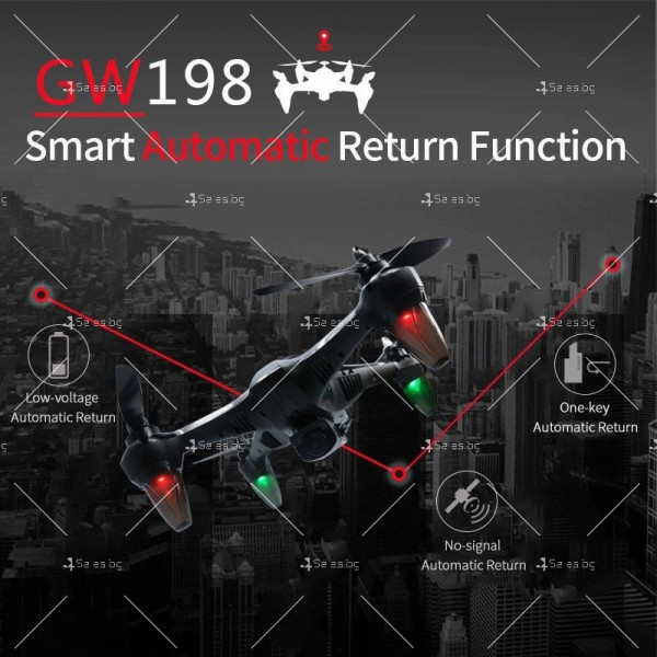 Мултифункционален дрон с 5 G трансмисия, Follow Me функция и HD камера GW198 14