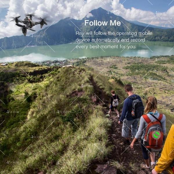 Мултифункционален дрон с 5 G трансмисия, Follow Me функция и HD камера GW198 18
