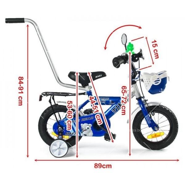 Детски велосипед с помощни колела 3