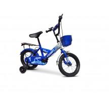 Велосипед за деца до пет години с помощни колела и кош