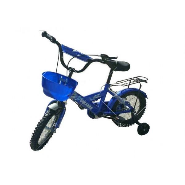 Велосипед за деца до пет години с помощни колела и кош 4
