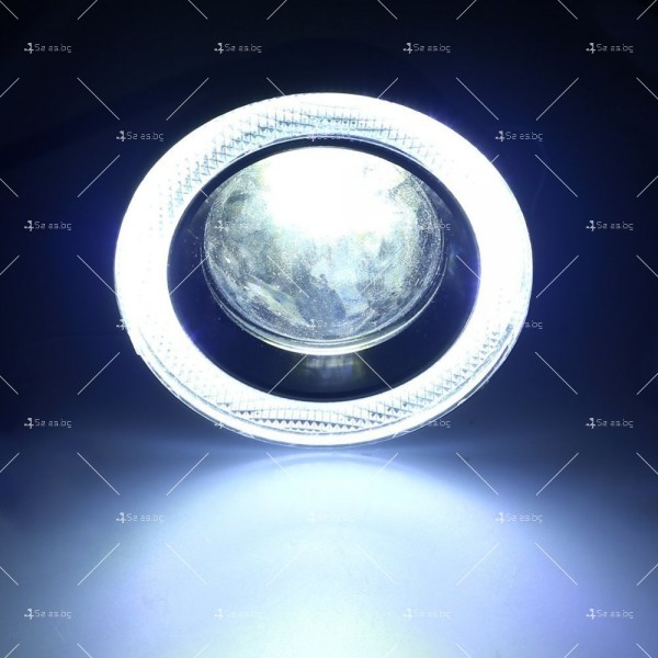 """Спортни халогенни фарове """"ангелски очи"""" – 76 мм CAR LED20 1"""