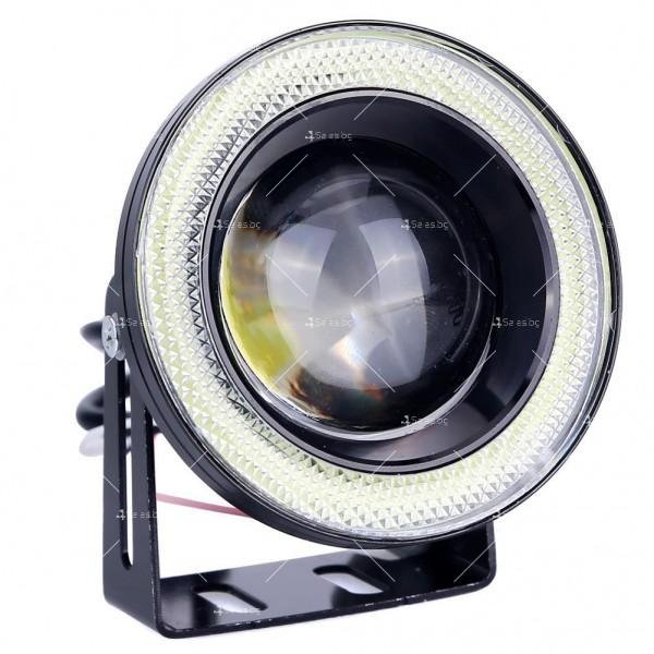 """Спортни халогенни фарове """"ангелски очи"""" – 76 мм CAR LED20"""