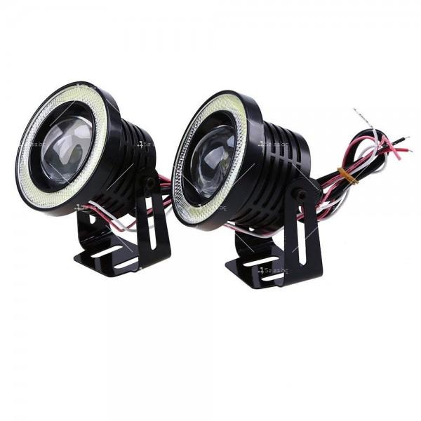 """""""Ангелски очи"""" – халогенни фарове за мъгла 89 мм CAR LED19 1"""