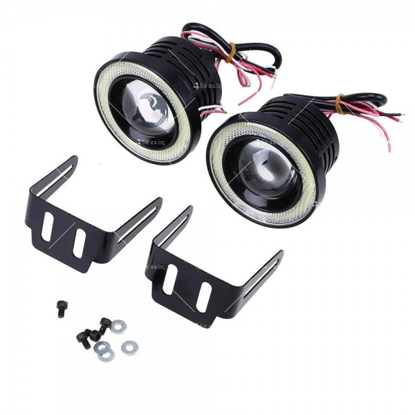 """""""Ангелски очи"""" – халогенни фарове за мъгла 89 мм CAR LED19 2"""