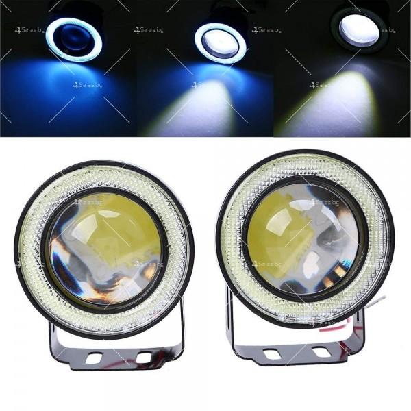 """""""Ангелски очи"""" – халогенни фарове за мъгла 89 мм CAR LED19 4"""