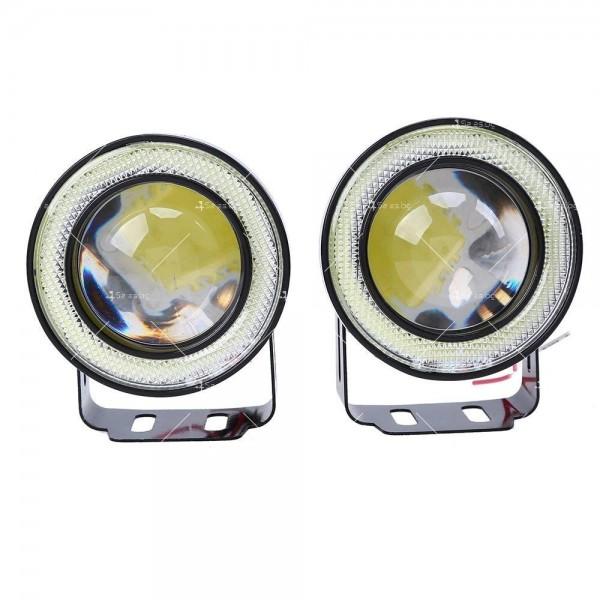 """""""Ангелски очи"""" – халогенни фарове за мъгла 89 мм CAR LED19 6"""