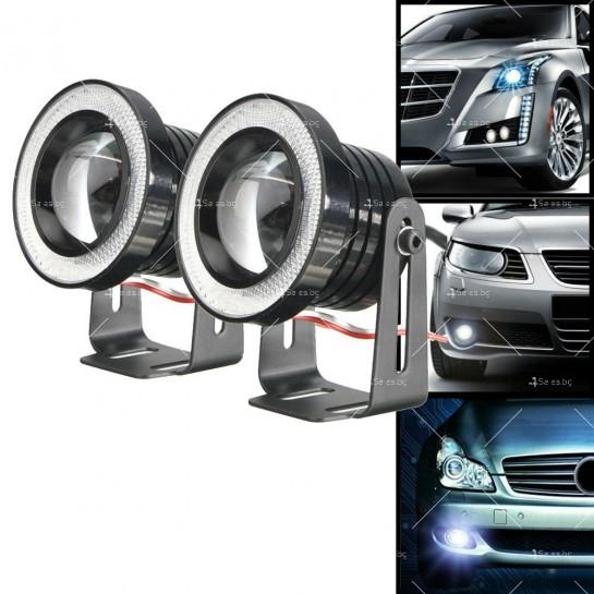 """""""Ангелски очи"""" – халогенни фарове за мъгла 89 мм CAR LED19"""