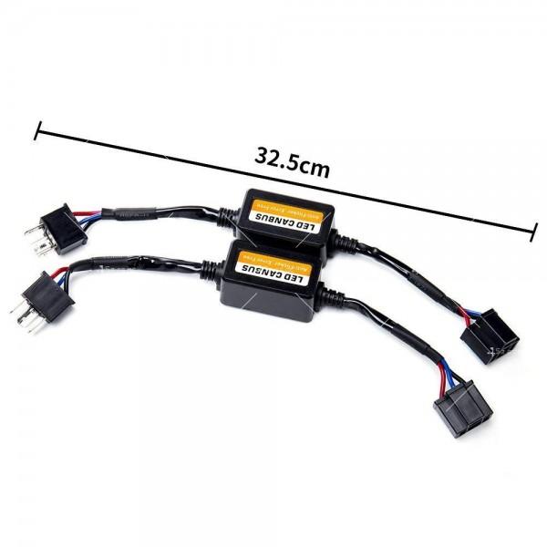 Стоперор, който премахва съобщение за изгоряла крушка при монтаж на H4 CAR LED3 2